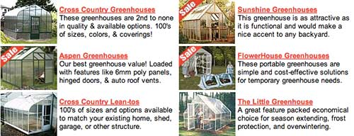 ACF温室,ACF Greenhouses