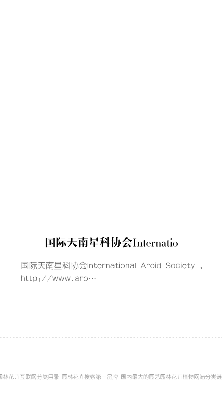 国际天南星科协会International Aroid Society bigger封面