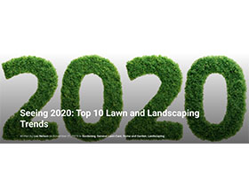 展望2020:十大草坪和景观趋势 Seeing 2020: Top 10 Lawn and Landscaping Trends