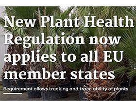 《新植物卫生条例》适用于所有欧盟成员国